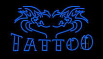 Tattoo LED Neon Signs