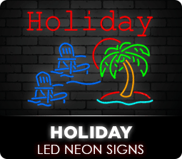 Holiday Led Neon Flex Signs